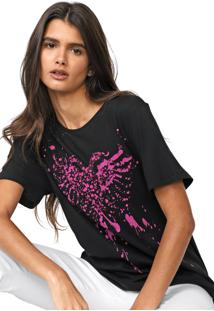 Camiseta Cavalera Águia Respingos Preta