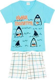 Pijama Infantil Masculino Lua Encantada Tubarão
