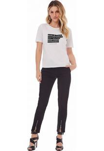 T-Shirt Zinco Decote Redondo Dia Dos Namorados Ela E Multicolorido