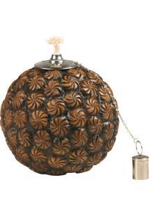 Lamparina Decorativa De Resina Esfera
