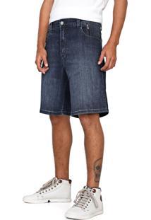 Bermuda Jeans Ellus 2Nd Floor Reta Adam Azul-Marinho - Kanui
