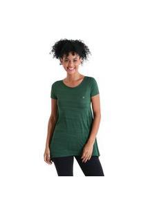 Camiseta Feminina Evasê Levíssima - Verde - Líquido