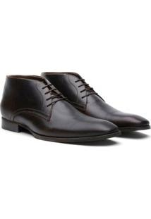 Bota Social Couro Youth Class Terrara Crazy Horse Masculina - Masculino-Cafe