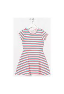 Vestido Infantil Estampa Listras - Tam 5 A 14 Anos   Fuzarka (5 A 14 Anos)   Multicores   5-6