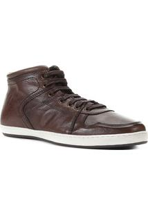 Bota Couro Shoestock Confort Masculina - Masculino-Café