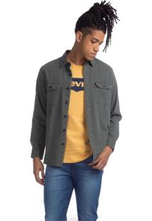 Camisa Levis Classic Worker Standard - 80118 Cinza