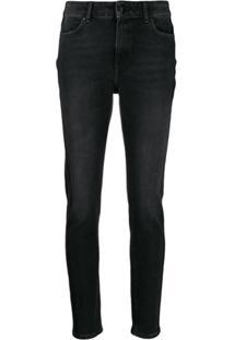 Escada Sport Mid-Rise Skinny Jeans - Preto