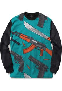 Blusa Bsc Weapon And Knife Full Print - Masculino