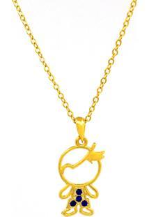 Gargantilha Horus Import Meu Menino Querido - Banhado Ouro Amarelo 18 K - 1060120 - Dourado