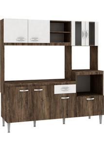 Cozinha Compacta Tati 8 Pt 1 Gv Naturalle Com Branco