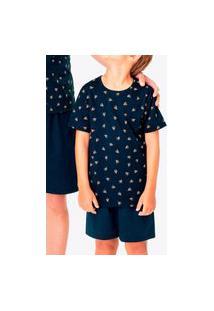 Pijama Infantil Menino Curto Malwee 1000083388 Azul Marinho