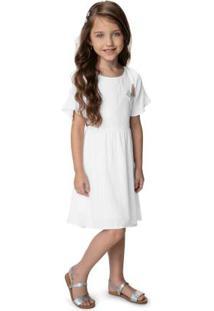 Vestido Branco Com Fio Lurex