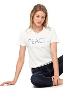 Camiseta Calvin Klein New Year Peace Branca