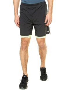 268382461 Shorts Esportivo Cinza Plus Size