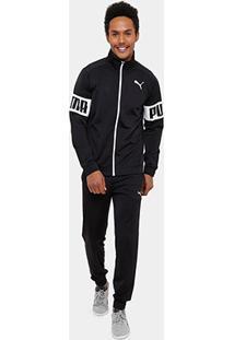 Agasalho Puma Rebel Tricot Suit Cl Masculino - Masculino