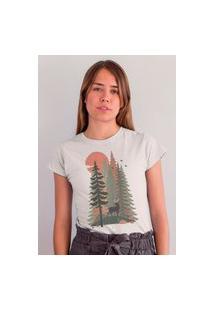 Camiseta Feminina Mirat Vintage Florest Branco