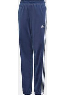 Calça Infantil Adidas Yb Ts Tiberio Masculina - Masculino-Azul+Branco