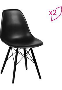 Jogo De Cadeiras Eames Dkr- Preto- 2Pçs- Or Desior Design