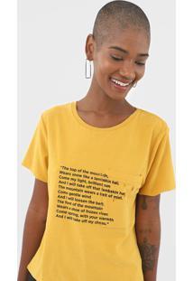 Camiseta Sacada Texto Montain Amarela - Kanui