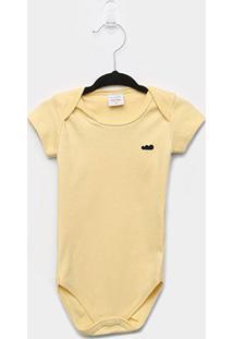 Body Infantil Marlan Bebê Básico - Masculino-Amarelo