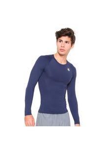 Camisa Esporte Legal Térmica El Fator Uv Manga Longa Poliamida Azul