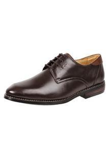 Sapato Social Derby Sandro Moscoloni Murel Marrom Escuro