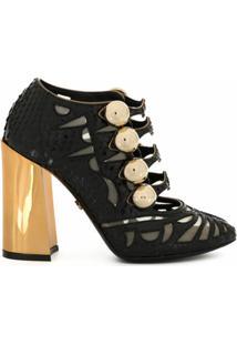 Dolce & Gabbana Sapato Com Recortes Translúcidos - Preto