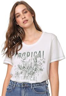 Camiseta Colcci Estampada Branca/Verde