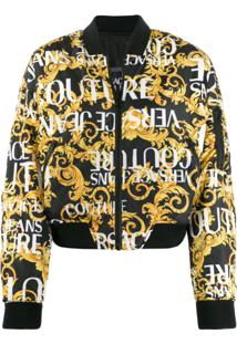 Versace Jeans Couture Jaqueta Bomber Barroca - Preto