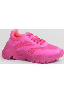 Tênis Feminino Chunky Sneaker Neon Zatz