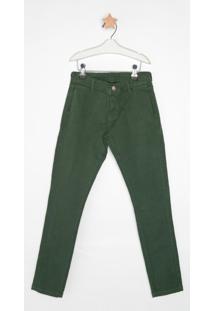 Calça Jeans Express Tito Verde Militar Verde