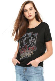 Camiseta Ellus The Rolling Stones Preta