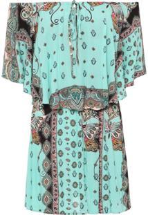 Vestido Leveza Oriental - Azul