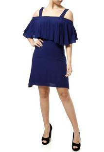 Vestido Curto Feminino Azul Marinho