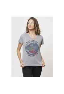 Camiseta Jay Jay Basica Best Surfing Cinza Mescla Dtg