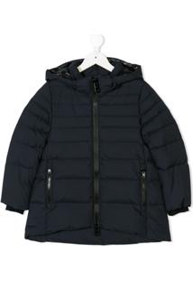 Herno Kids Hooded Padded Coat - Azul