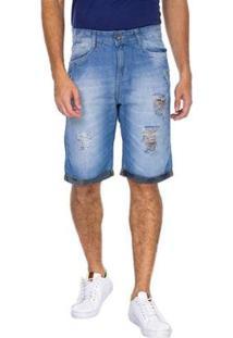 Bermuda Jeans Slim Tng Masculina - Masculino
