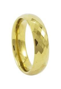 Aliança De Tungstênio New Tungsten 6Mm Briolet Gold - Unissex-Dourado
