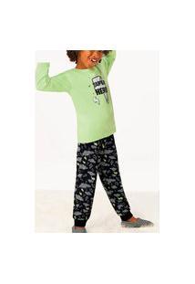 Pijama Malwee 1000077479 Infantil Verde