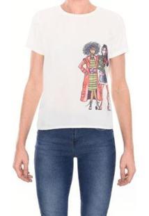 Camiseta M.Officer Basic Feminina - Feminino-Branco
