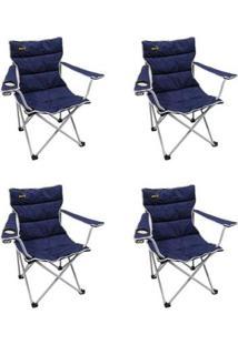 Kit 4 Cadeiras Dobráveis Fácil Montagem E Desmontagem Boni Nautika - Unissex