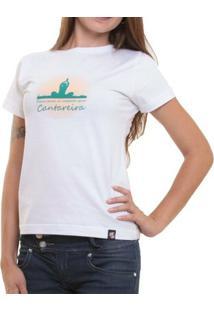 Camiseta Feminina Baby Look Oitavo Ato Cantareira Mensana - Feminino-Branco