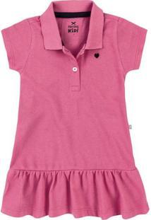 Vestido Gola Polo Bebê Menina Hering Kids