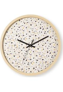 Relógio De Parede Pintinhas Branco Mart Collection