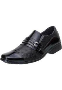 Sapato Social San Lorenzo Verniz Masculino - Masculino-Preto