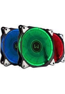 Cooler Rgb 1300 Rpm E 2,8W Até 7 Opções De Cores Warrior - Unissex