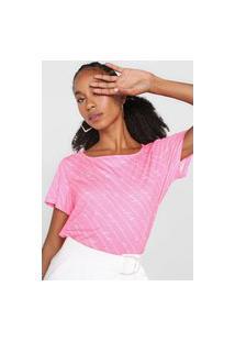 Camiseta Lança Perfume Logo Rosa/Branco