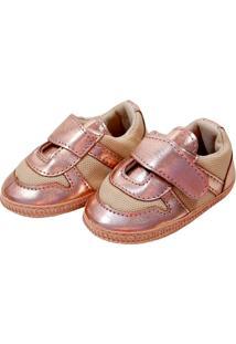 Sapatinho Metalizado Sapatinhos Baby Rosê