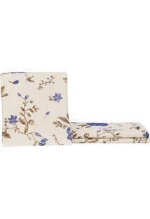Toalha De Rosto Felpuda Itália Floral Azul Garmisch