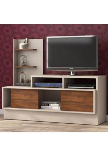 Rack Para Tv Até 43 Polegadas Trues 2 Portas Off White/Seda - Viero Móveis